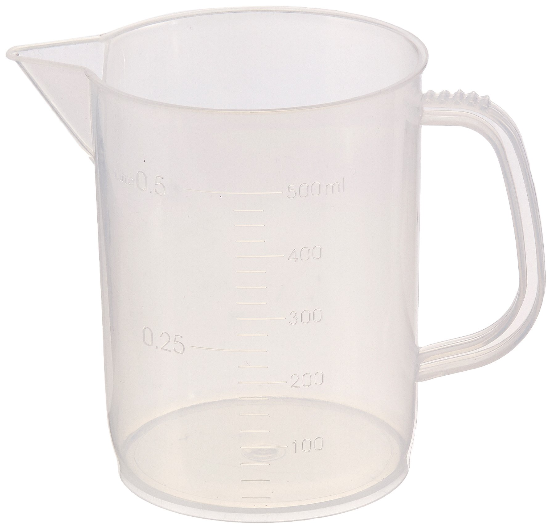 United Scientific 81121 Polypropylene Short Form Pitchers, 500ml Capacity (Pack of 12)