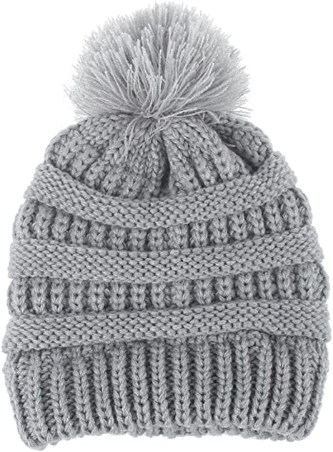 Recién nacido linda moda mantener calientes sombreros de invierno Sombrero de dobladillo de lana de punto bufanda Gorros Bebé invierno cálido sombreros Zapatos de bebé ropa bebe by Xinantime (Gris): Amazon.es: Hogar