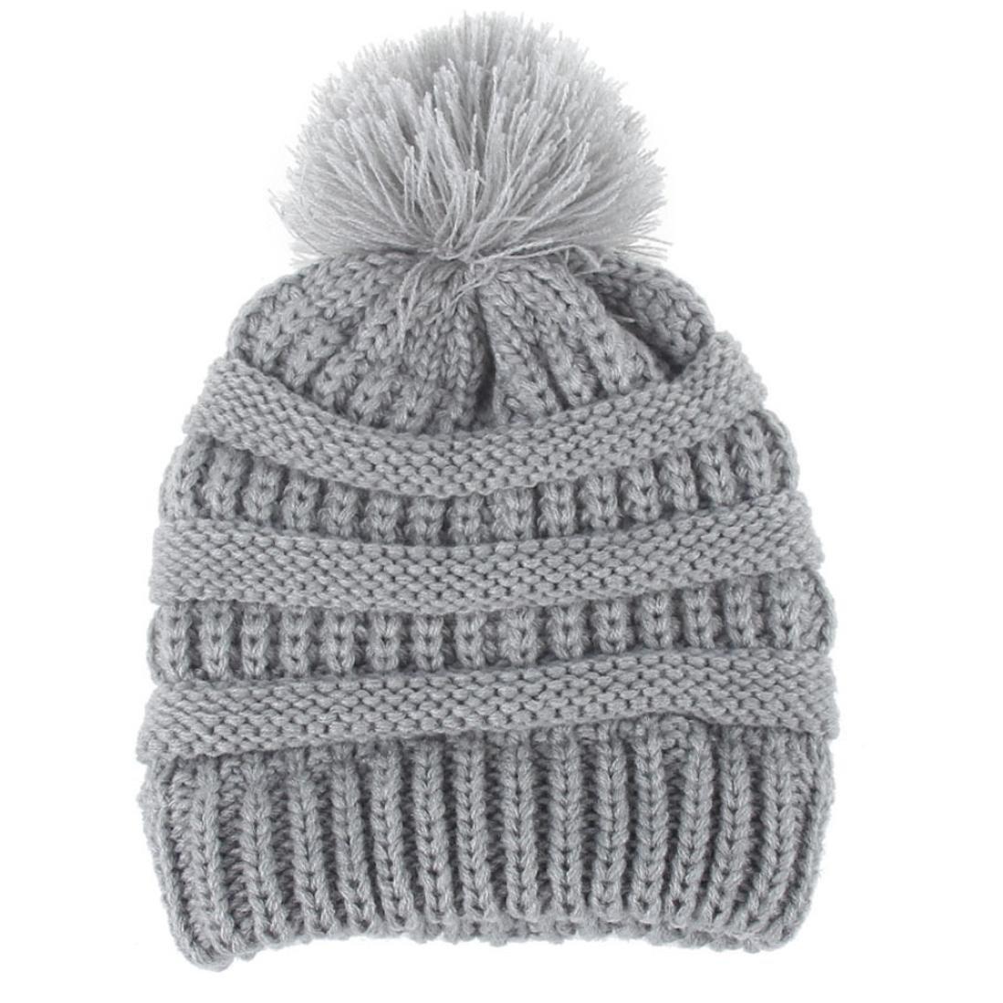 Recién nacido linda moda mantener calientes sombreros de invierno Sombrero de dobladillo de lana de punto bufanda Gorros Bebé invierno cálido sombreros ...