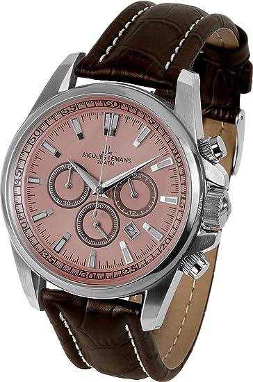 6c7d1c6e87d6 Jacques Lemans Liverpool - Reloj de Pulsera analógico de Cuarzo Piel 1 -  1117rn  Amazon.es  Relojes