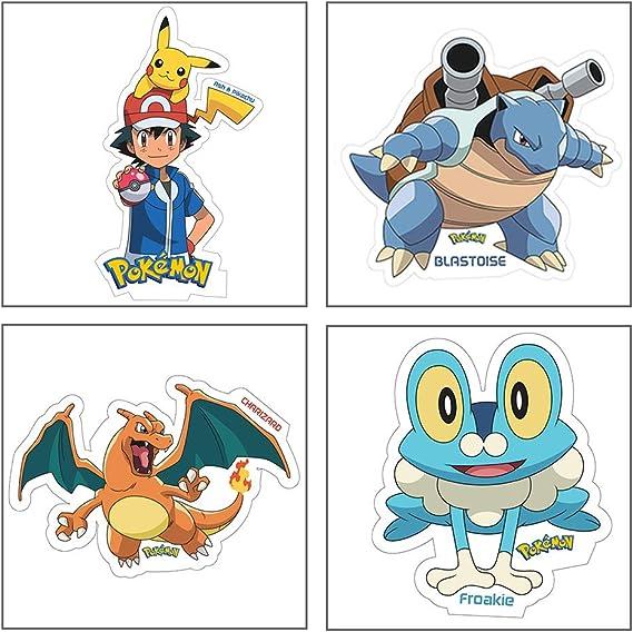 Venusaur Pikachu Pack of 4 Pikachu Pokemon Style Character Magnetic Stickers Charizard