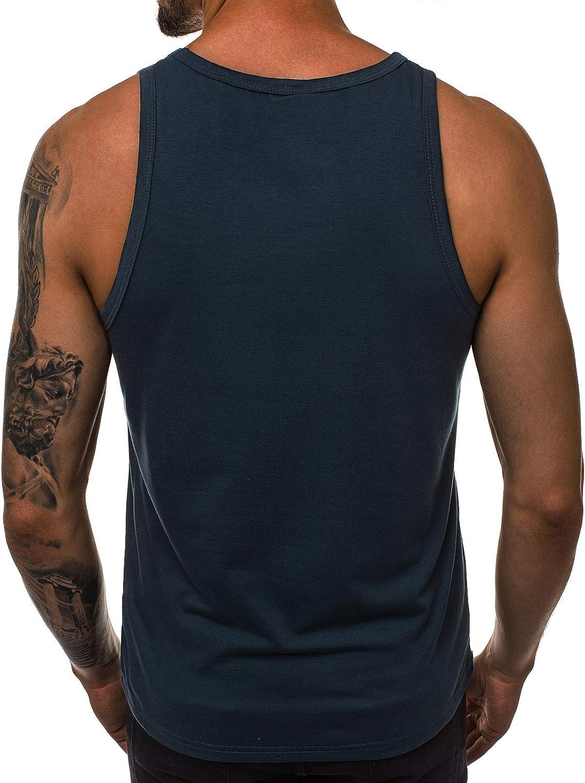 OZONEE Herren Tank Top Tanktop Tankshirt /Ärmellos Bodybuilding Shirt Unterhemd T-Shirt Muskelshirt Achselshirt /Ärmellose Training Gym Sport Fitness Freizeit Rundhals JS//99003