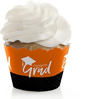 product image for Orange Grad - Best is Yet to Come - Orange Graduation Party Decorations - Party Cupcake Wrappers - Set of 12