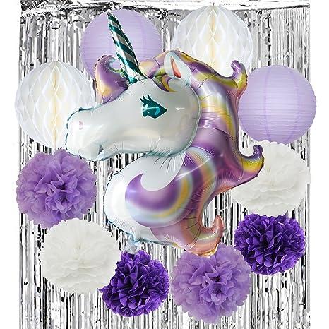 Unicornio decoración para cumpleaños fiesta decoración 32 ...
