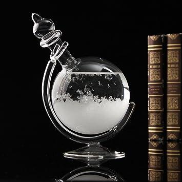 Aissimio Botella de para el pronóstico del Tiempo Creativo con Cristal, Vidrio esférico, decoración