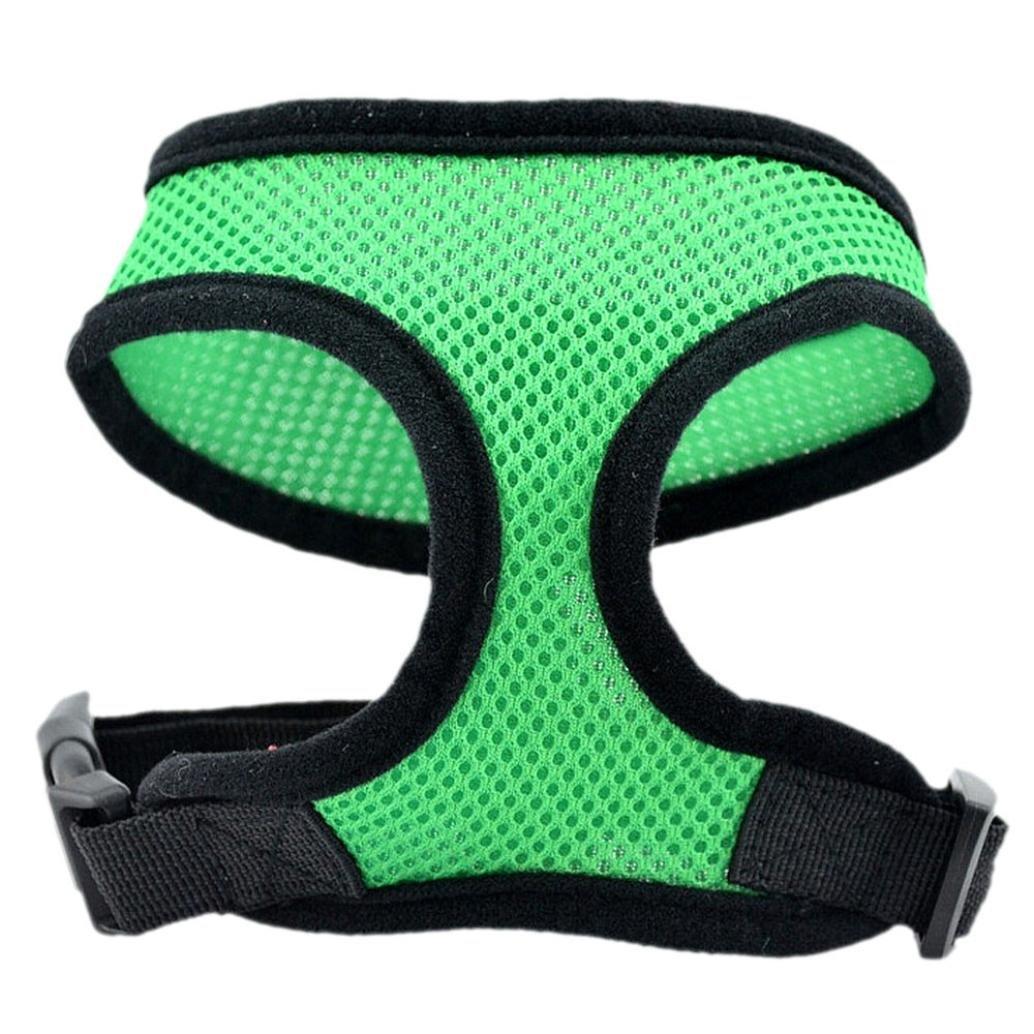 Clearance ! Pet Clothes, ღ Ninasill ღ Exclusive Dog Harness Soft Mesh Vest Dog Lead Leash Chest Belt (XS, Green)
