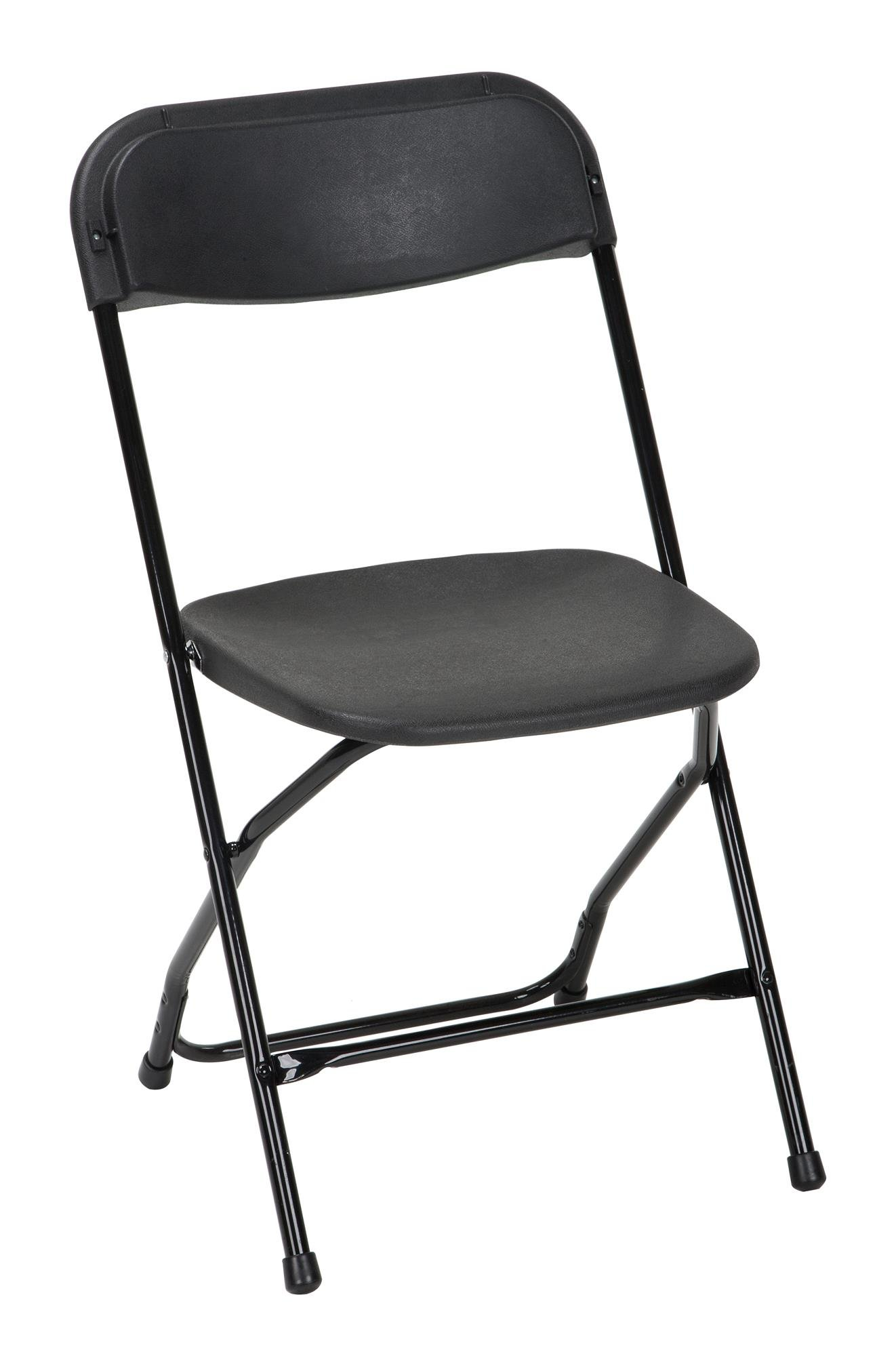 ZOWN Commercial 60540BLK8E Heavy Duty, Injection Mold Banquet Folding Chair, 8-Pack, Black (300 lb. Use Rate)