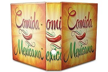 Leotie GmbH Archivador A4 Carpeta 2 Anillas 60mm Impreso Comida Mexicana