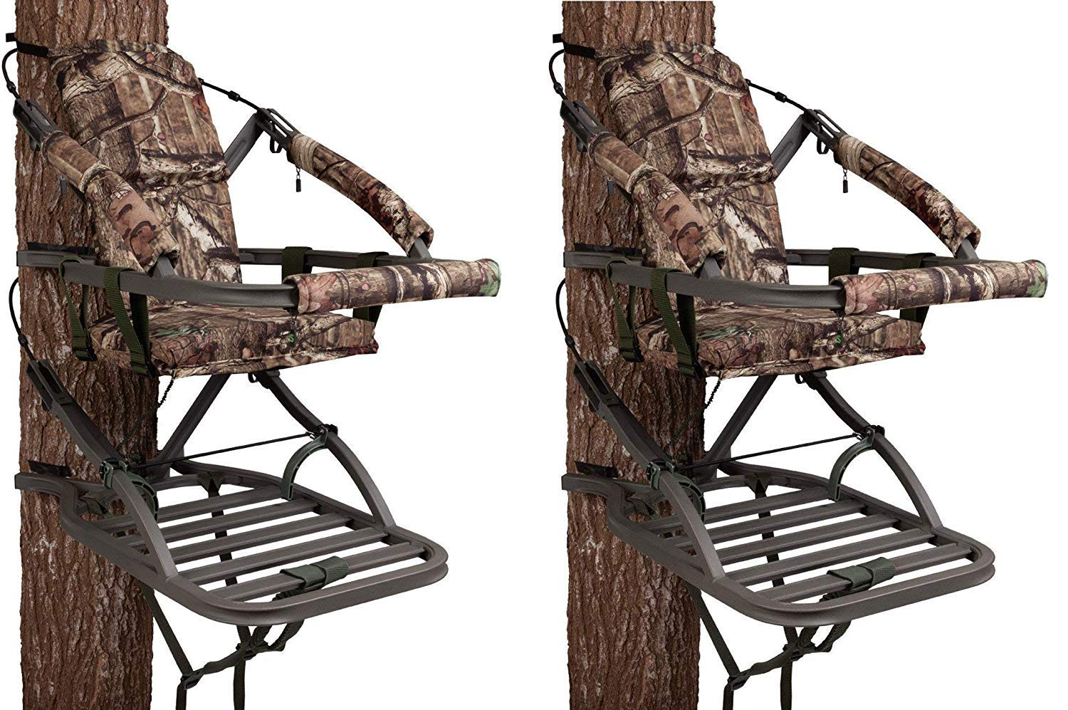 Summit Treestands 81120 Viper SD Climbing Treestand, Mossy Oak (Pack of 2)