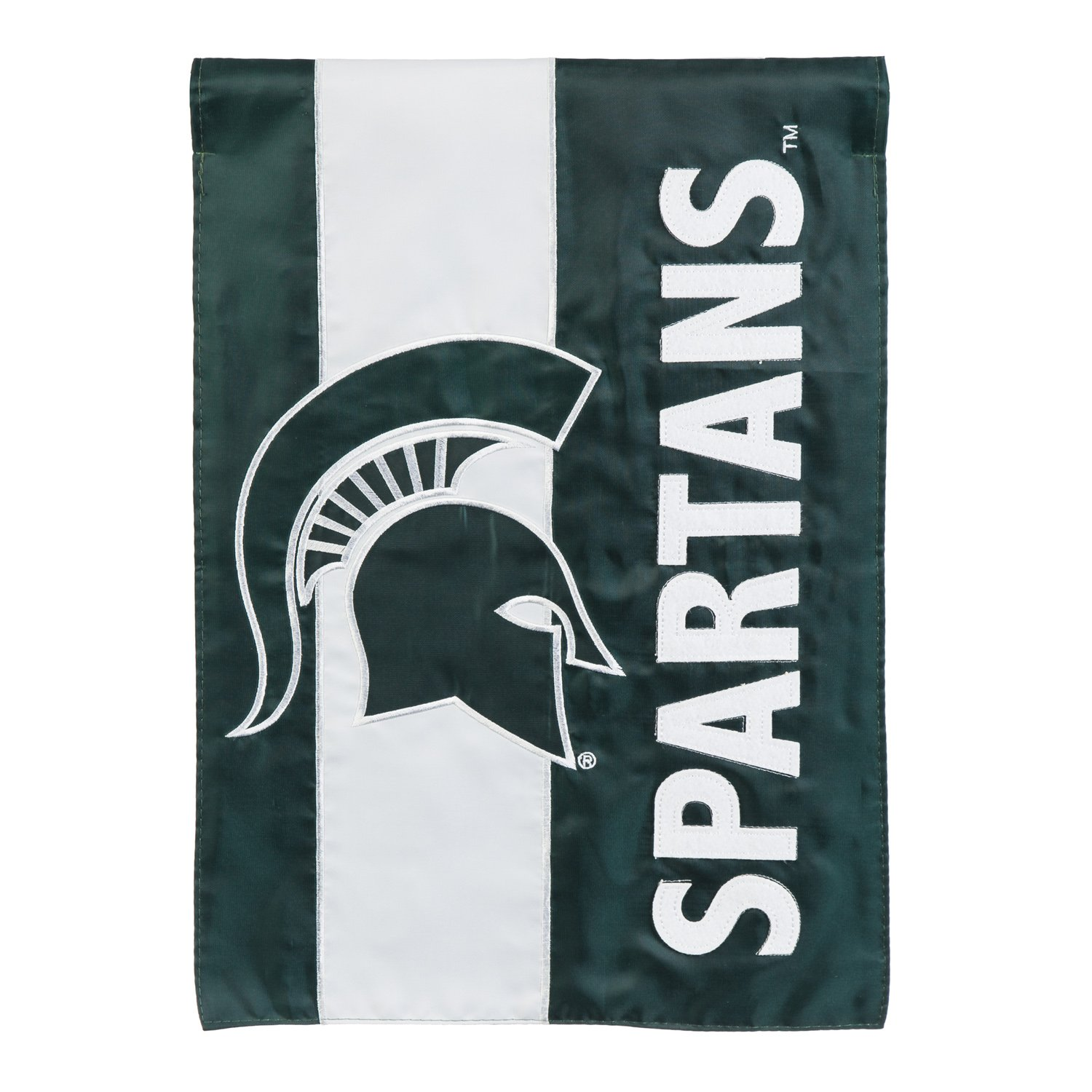 Team Sports America Michigan State Embellished Garden Flag - 13 x 18 Inches
