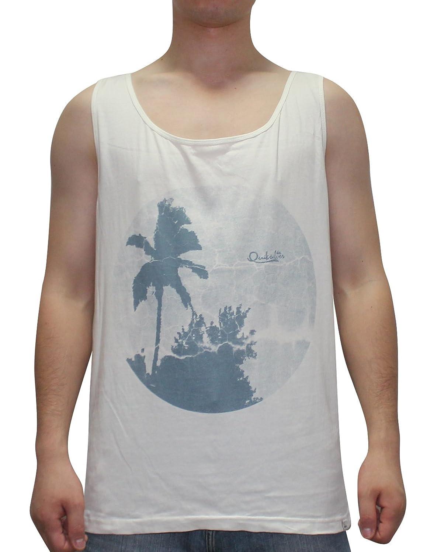 Quiksilver Men's Surf - Skate Crew-Neck Sleeveless Shirt / Vest Top M Beige