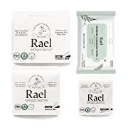 Rael Value Package - Certified Organic Cotton Regular Pads,Overnight Pads, Liners and Feminine Wipe (Rael Package2)