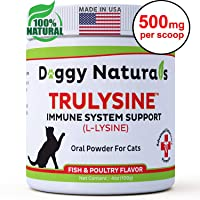 L-Lysine Supplement for Cats - Cats & Kittens of All Ages - Lysine for Cats Immune...