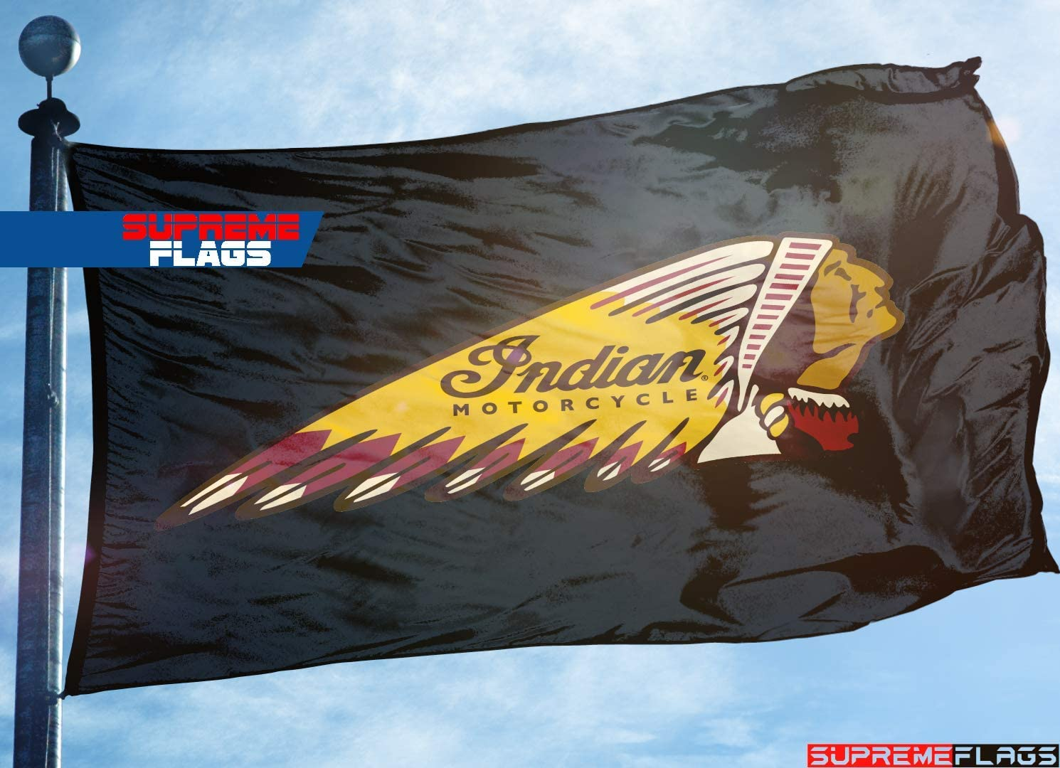 Indian Motorcycle Flag Banner 3x5 ft Car Wall Garage