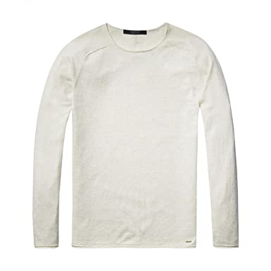 350dcbc250bc Scotch   Soda Herren Pullover Crewneck Cashmere Blend Quality with Rolled  Edge  Amazon.de  Bekleidung