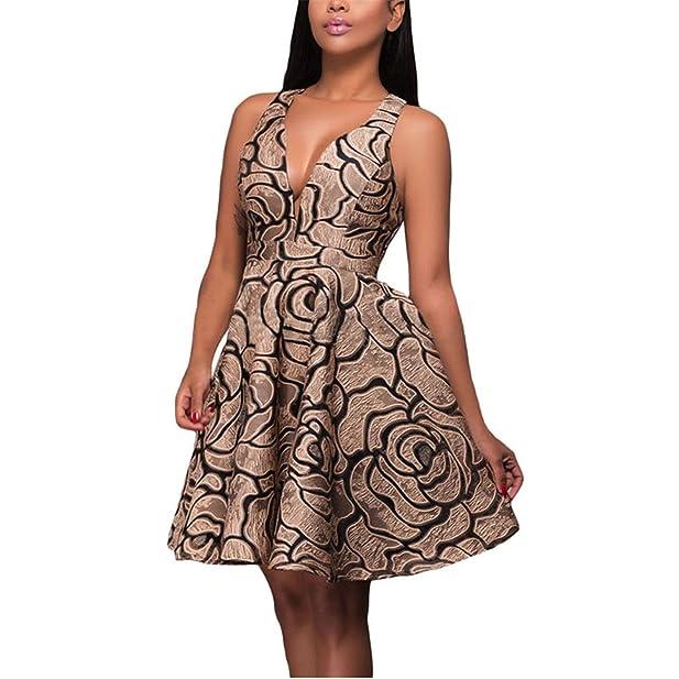 ... de brim das mulheres do vintage com babados dress halter v neck casual khaki curto das mulheres da praia do verão vestidos de festa lc22939: Clothing