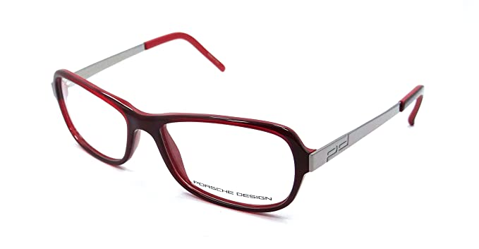 e22a05ea2c Amazon.com  Porsche Design Rx Eyeglasses Frames P8207 B 53x15 Red ...