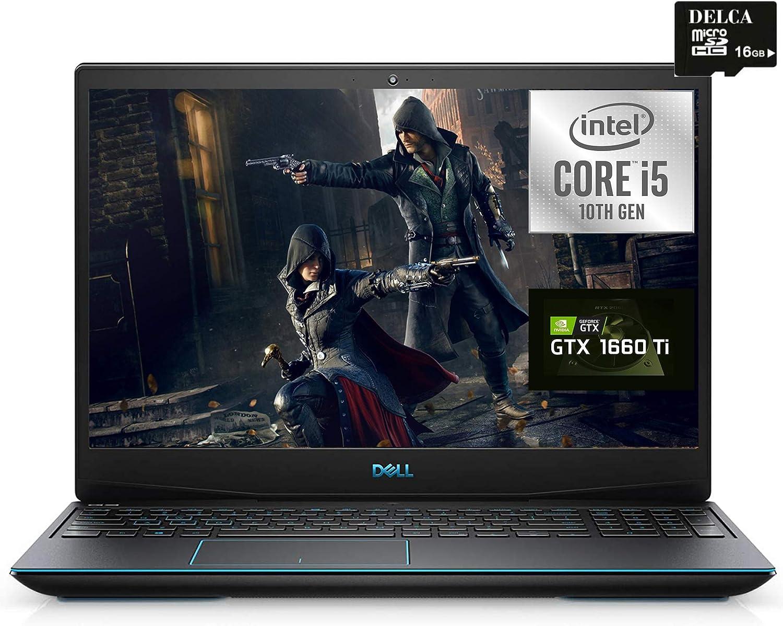"Dell G5 15 2020 Premium Gaming Laptop I 15.6"" FHD I Intel 4-core i5-10300H (> I7-8850H) I 64GB DDR4 1TB SSD + 1TB HDD I GeForce GTX1660 Ti 6GB Backlit Thunderbolt Webcam + Delca 16GB Micro SD Card"