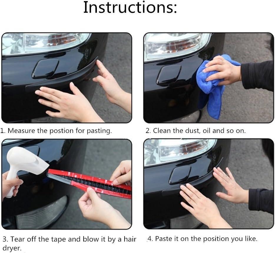 Wefond Universal Carbon Fibre Car Door Sill Guards Protector Self-Adhesive Flexible Car Sticker Protector for Car SUV Truck Door Entry Guards 2x98.4 inches 5x250cm WL