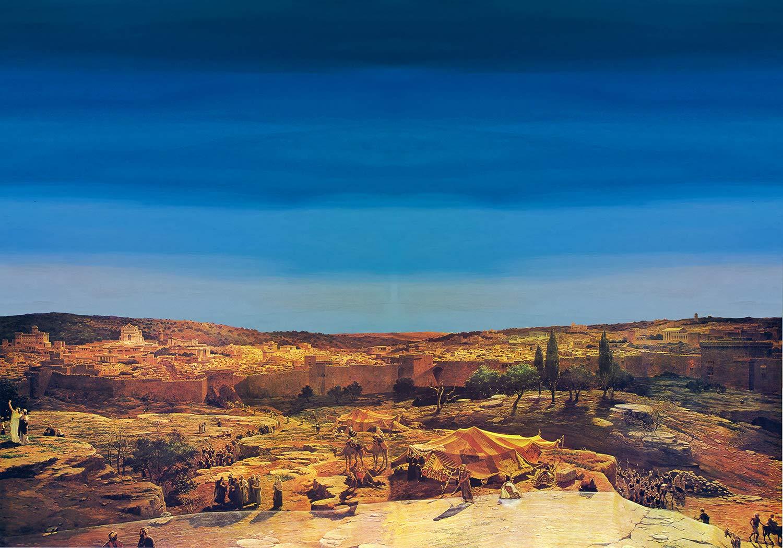 De Sisinno Fond pour cr/èche paysage arabe 100/x 70/cm