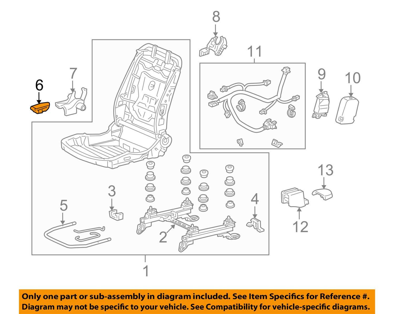 Honda Genuine 81231-TA0-A01ZU Seat Reclining Knob