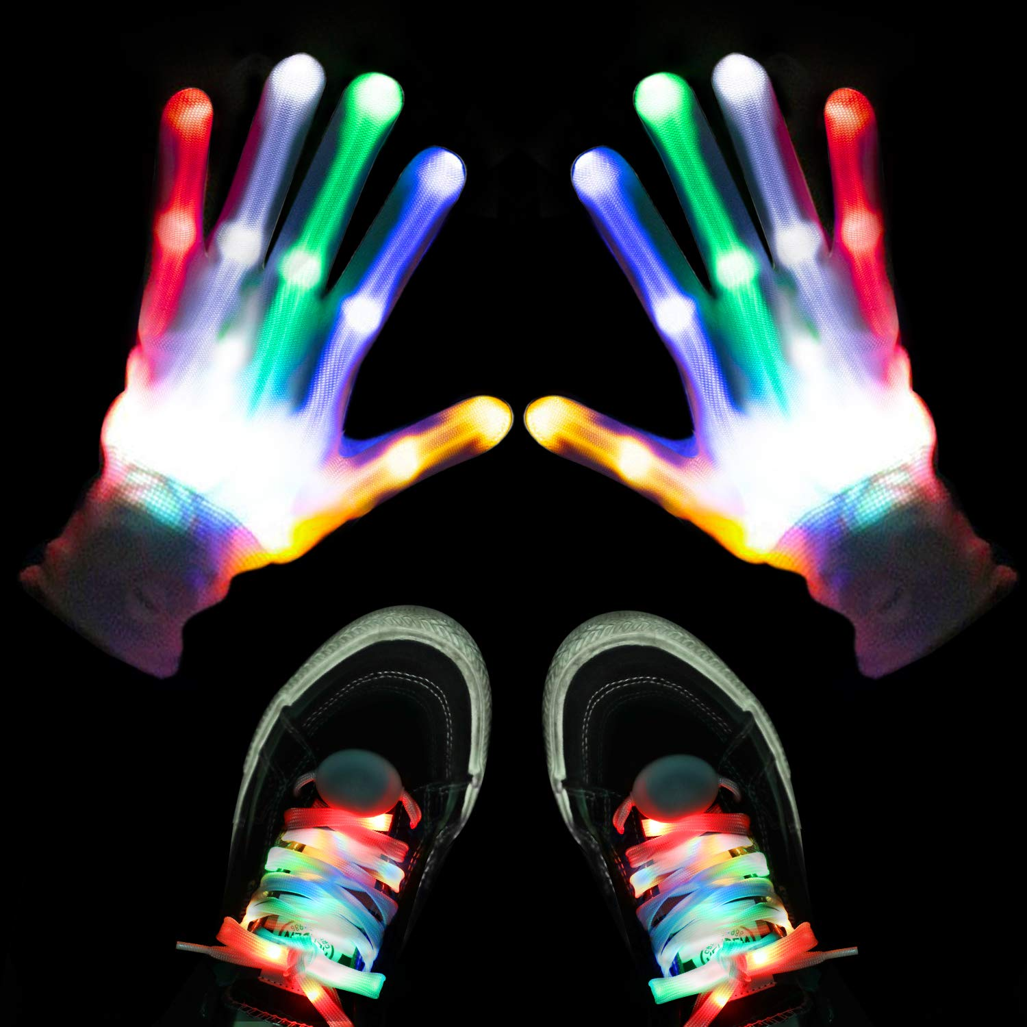 LED Flashing Gloves and Shoelaces