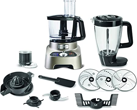 Moulinex Food Processor FP824H27, 1000 Watts, Blend + Knead + Juice+ Pulse Function: Amazon.es