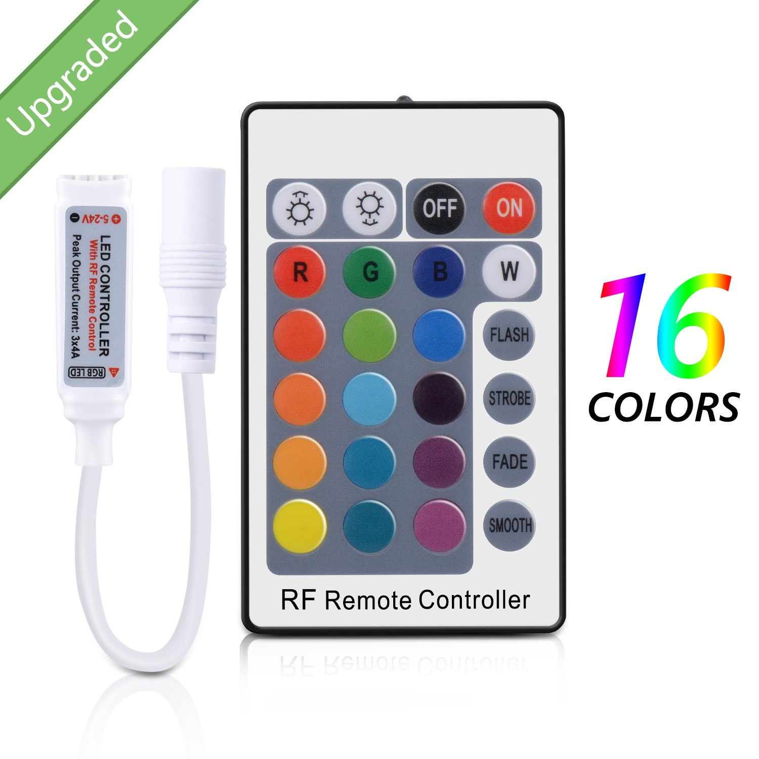 Sunnest Rf Remote Controller For Rgb Color Led Strip Strips With 20 Keys Control Lights 24 Key 12v Dc Multicolor Dimmable 3528 5050