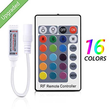 Amazon sunnest rf remote controller for rgb color led strip sunnest rf remote controller for rgb color led strip lights24 key remote 12v dc aloadofball Image collections
