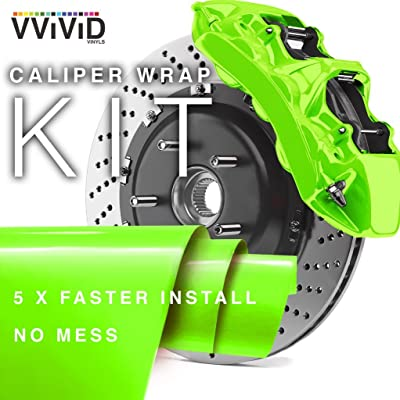 VViViD Enamel Paint Wrap High Temperature Vinyl Film for Calipers (Atomic Lime Green): Automotive