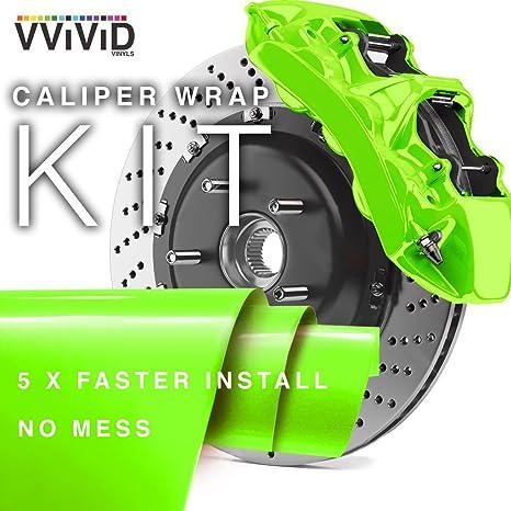 VViViD Enamel Paint Wrap High Temperature Vinyl Film for Calipers (Atomic  Lime Green)