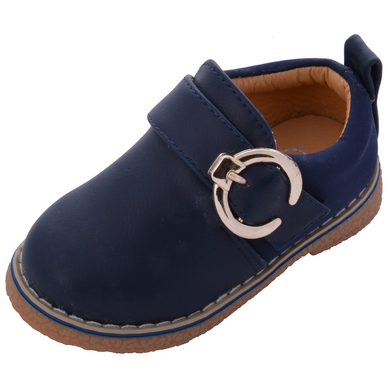 Doink Shoes Navy Leather Baby Boys Loafers UK Size 8 28 to 30 mths