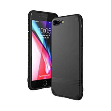 Funda iPhone 8 Plus, Funda iPhone 7 Plus, Kingriz Carcasa Ligera Bumper Silicona Suave TPU Anti-Arañazos Anti-Golpes Protección de 360 Grados Caso ...