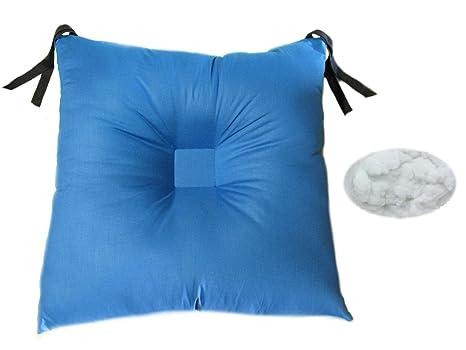 Cuscino Antidecubito In Fibra Cava Siliconata.Cuscino Con Depressione Centrale Blu Supporto Antidecubito Per