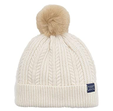 f6e08aeef56757 Joules Bobble Null Cable Knit Hat (Cream): Amazon.co.uk: Clothing