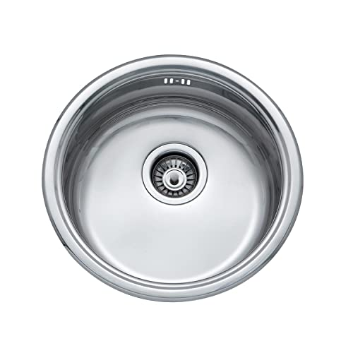 Small Steel Inset Single Bowl Kitchen Sink (A11 mr