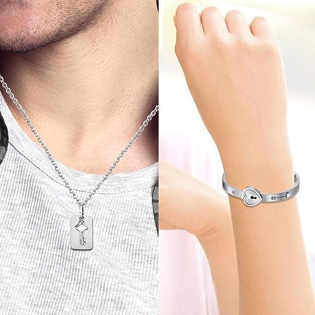 Juego de pulsera y collar para parejas