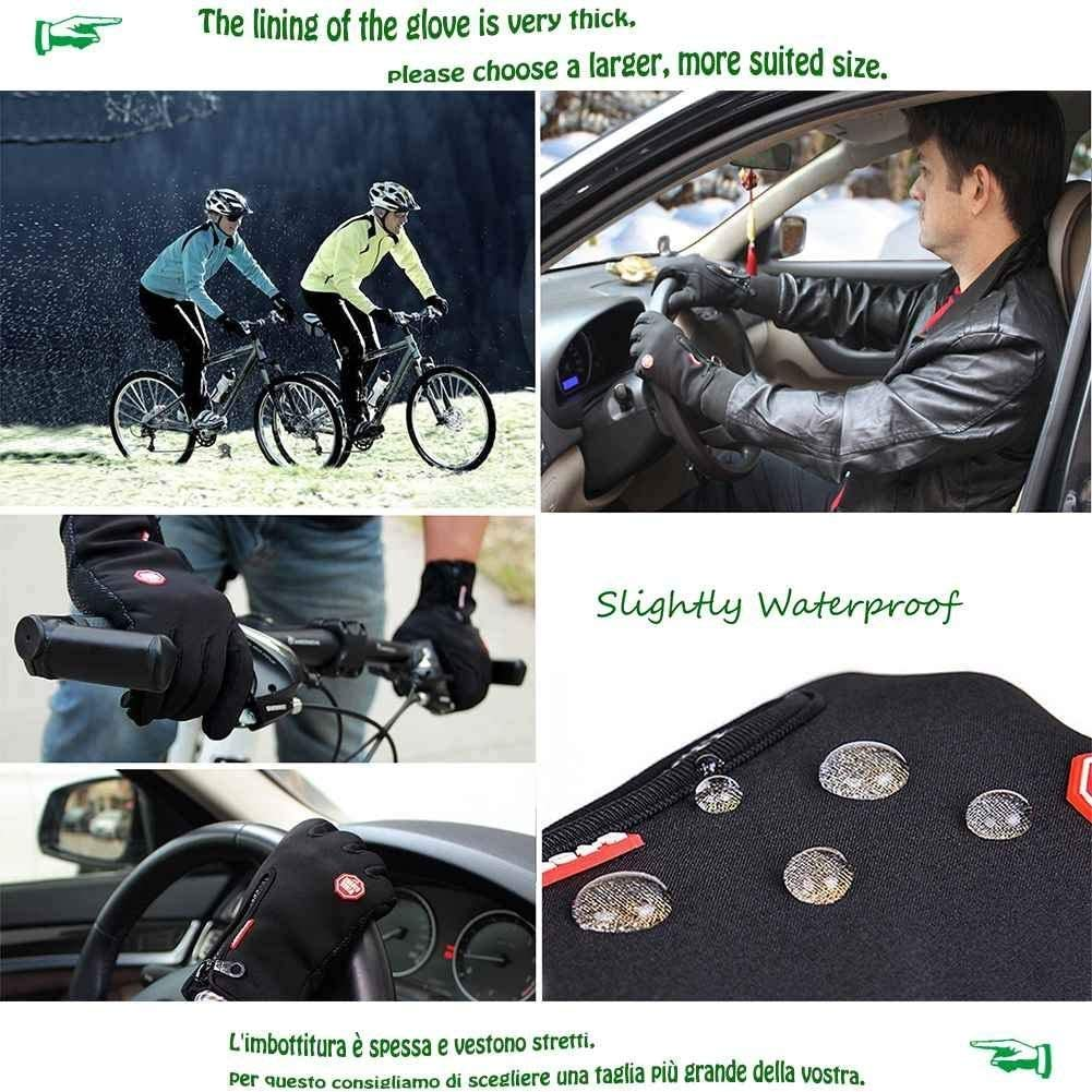 etc. Acelec Guantes Impermeables de Pantalla t/áctil Ciclismo con dise/ño de Dedo Completo Vestido de Escalada Motocicletas Camping conducci/ón para Deportes al Aire Libre