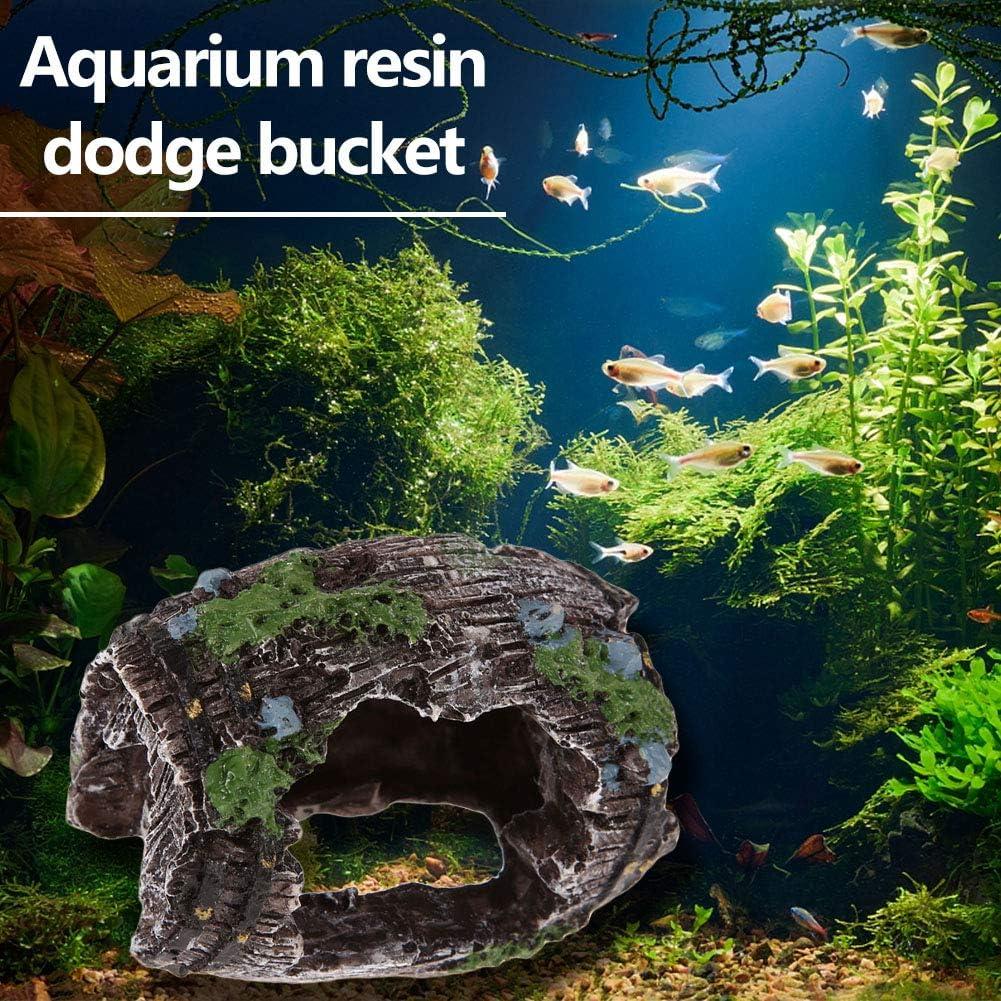 2 cuevas de /árbol para acuario para acuario tronco de /árbol cueva para peces y gambas Starnearby cueva con tronco de /árbol