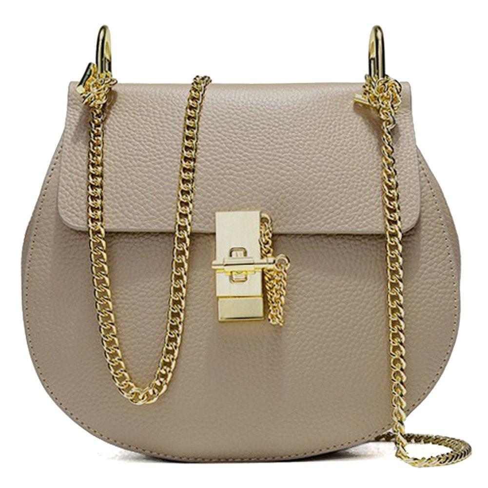 MACTON Genuine Leather bag Mini Size pig style crossbody bag MC-5001 (Large Size, Grey)