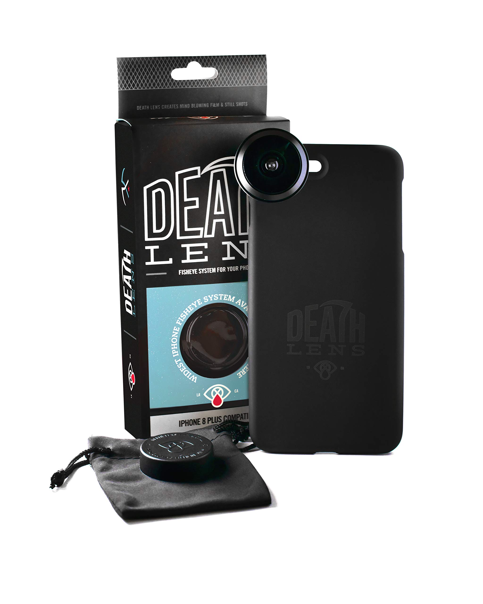 Death Lens iPhone 8 Plus Fisheye 200 Degree Professional Photo HD - Perfect for Skateboarding, Snowboarding, Skiing, and Traveling by DEATH LENS