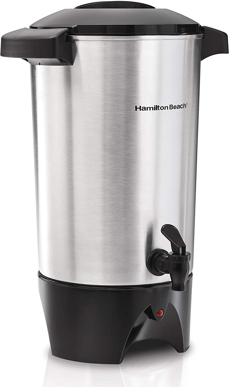 Hamilton Beach 45 Cup Coffee Urn and Hot Beverage Dispenser, Silver