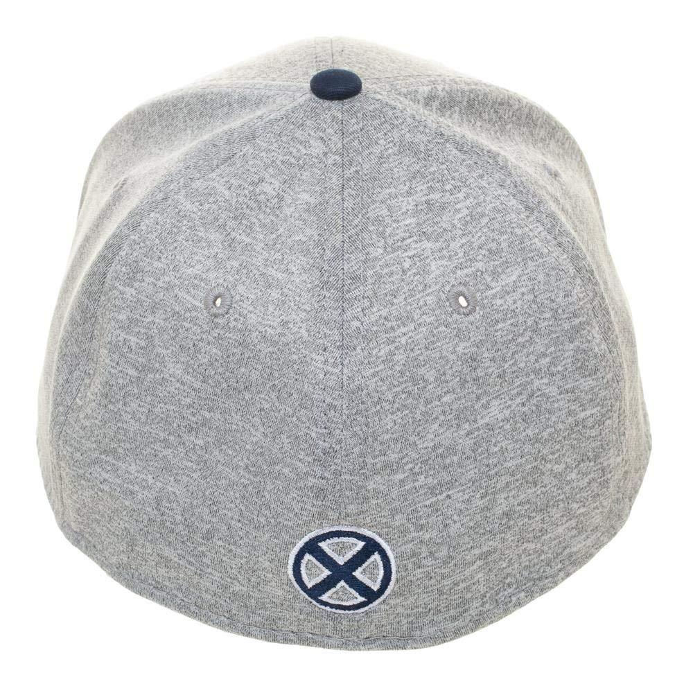 Xavier School for The Gifted Flex Fit Hat Grey Bioworld Marvel X-Men