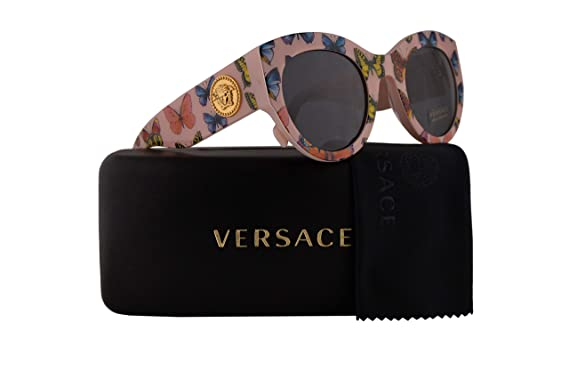 45ad085c0aa Versace VE4353 Sunglasses Butterfly Pink w Grey Lens 51mm 528687 VE 4353   Amazon.co.uk  Clothing