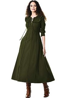 6558fe98343 eShakti Women s Embellished Cotton Chambray Maxi Dress at Amazon ...