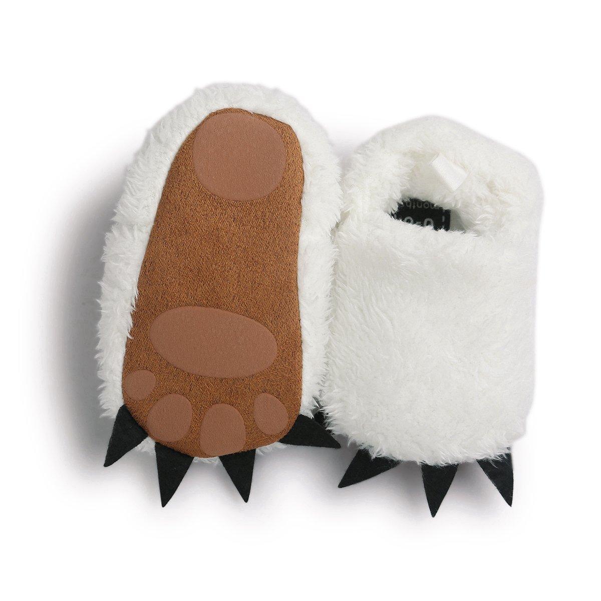 Vanbuy Baby Boys Girls Shoes Bear Paw Animal Slippers Boots Newborn Infant Crib Shoes WB28-White-L by Vanbuy (Image #5)