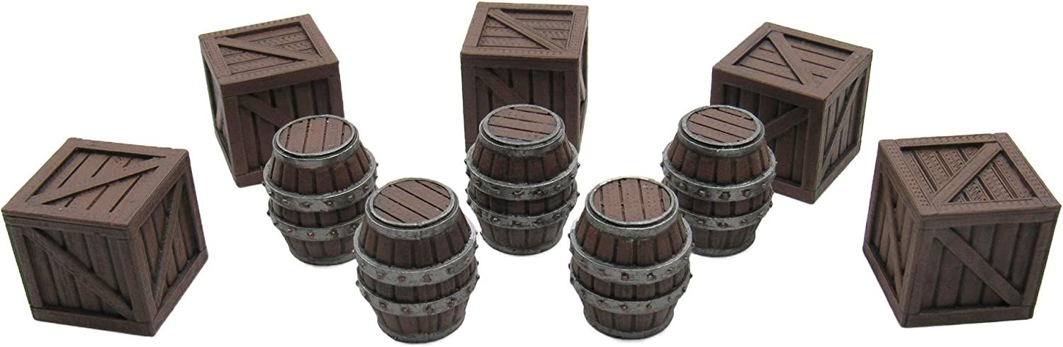 Crates and Barrels, Terrain Scenery for Tabletop 28mm Miniatures ...