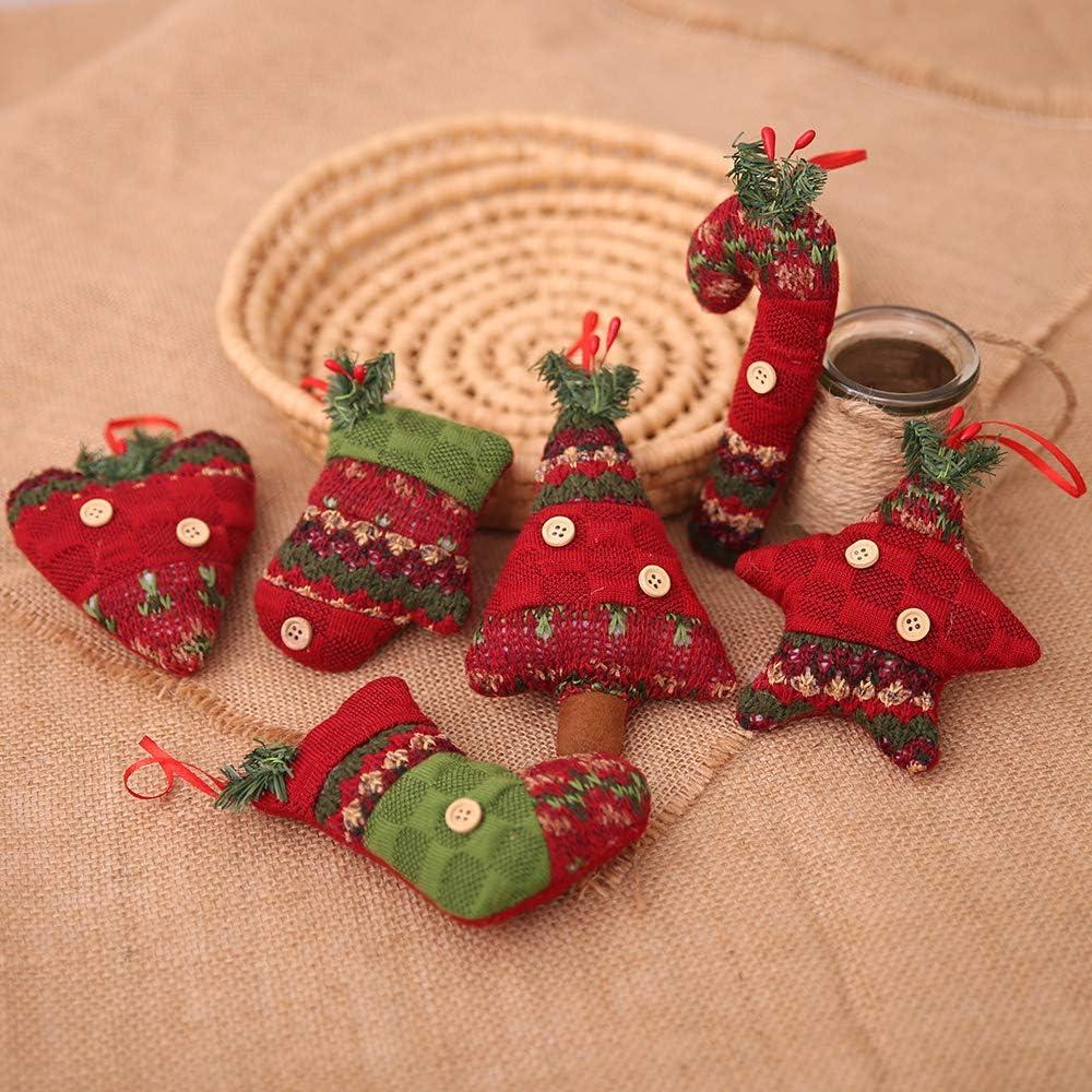 Kesote Conjunto de 6 Adornos de Árbol de Navidad Accesorios Decorativos de 5