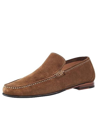 Loake Hombres Mocasines de Ante Nicholson Marrón: Amazon.es: Zapatos y complementos