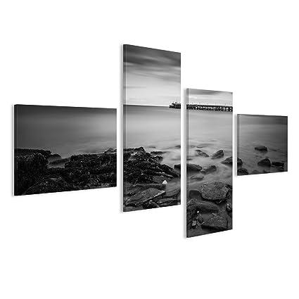 Quadro moderno paisaje marino largo la duración durante la ...